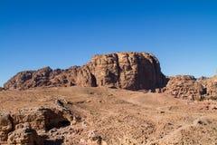 Mountian Landscape. In Petra, Jordan Royalty Free Stock Image