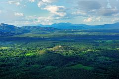 Mountian landskap Royaltyfri Foto