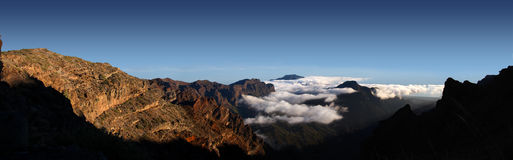 Mountian top on La Palma Royalty Free Stock Images