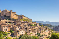 Mountian village Alquezar in the Pyrenees Royalty Free Stock Images