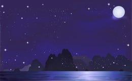 Mountian w nocy Zdjęcie Royalty Free
