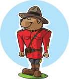 Mountie del castoro Immagine Stock