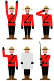 Mountie. Illustration of a Mountie in different poses Royalty Free Stock Photography