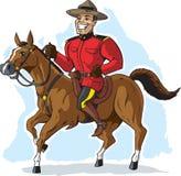 Mountie på häst Arkivfoto