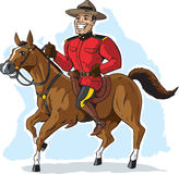 Mountie sur le cheval Photo stock