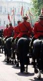 Mounties canadenses reais Imagens de Stock