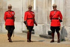 Mounties canadienses reales Imágenes de archivo libres de regalías