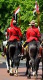 Mounties canadienses reales Fotos de archivo