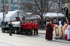 Mounties Handling casket at Jim Flaherty State Fun Royalty Free Stock Images