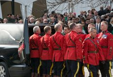 Mounties Handling casket at Jim Flaherty State Fun Royalty Free Stock Photo