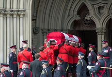 Mounties Handling casket at Jim Flaherty State Fun Royalty Free Stock Image