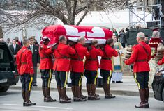 Mounties Handling casket at Jim Flaherty State Fun Royalty Free Stock Photos