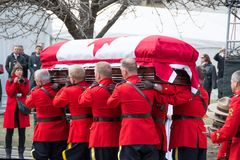 Mounties Handling casket at Jim Flaherty State Fun Stock Photography