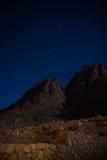 Mountin bij nacht Stock Foto