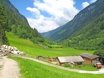 Mountin pasture in Austria. Mountain pasture in Zillertal (Zillergrund) in Austria Stock Photo