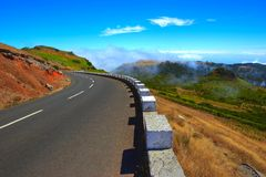 Mountin view. Nice mountin view with a road in Portugal royalty free stock photo