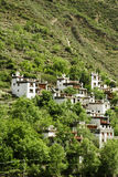 Mountin village. Architecture group of Zang, a minority nation in China located in Sichuan province Stock Photography