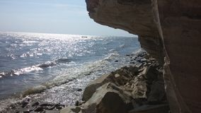 Mountin y mar Foto de archivo libre de regalías