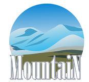 Mountine icon Royalty Free Stock Photography