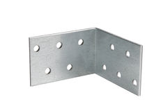 Mounting angle metal brackets Royalty Free Stock Photos
