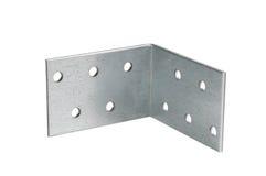 Mounting angle metal brackets Royalty Free Stock Photos