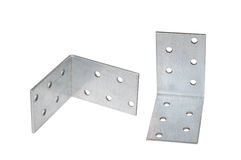 Mounting angle metal brackets Royalty Free Stock Photography