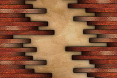 Mounting cherry parquet on grunge surface Stock Image