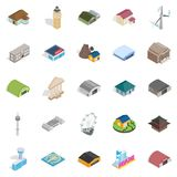 Mounting icons set, isometric style. Mounting icons set. Isometric set of 25 mounting vector icons for web isolated on white background Royalty Free Stock Photo