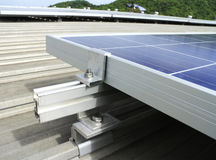 Mounting Kits Solar PV Rooftop Royalty Free Stock Photo