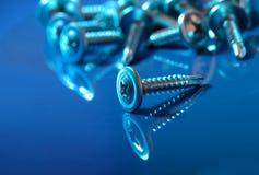 Mounting screws stock image