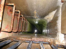 Mounting shaft indoors dam in Brno Stock Photo