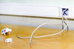 Mounting socket rj 45 internet network Stock Photography