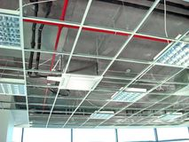 Mounting Suspended Ceiling Frame Stock Photography