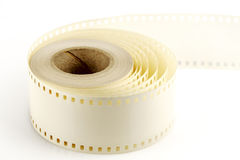 Mounting tape to 35mm film Stock Photography