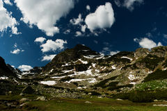 Mountinious landscape with green ecological nature royalty free stock image