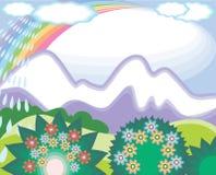 Mountins e pioggia Fotografia Stock Libera da Diritti
