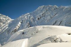 Mountins nell'inverno Fotografie Stock Libere da Diritti