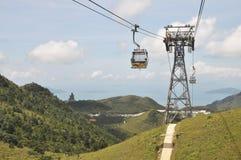 Mountisn för kabelbil struktur långt Royaltyfri Foto