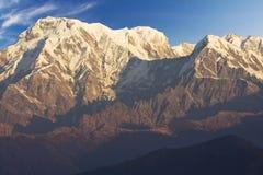 Mounts Annapurna South, Annapurna I and Hiunchuli. Image of Mounts Annapurna South, Annapurna I and Hiunchuli on the Dhaulagiri-Annapurna-Manaslu Himalayan stock photos