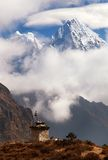 Mounts Kangtega and Thamserku near Namche Bazar Stock Photo