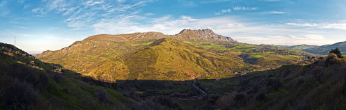 Mounts of Sicily. Royalty Free Stock Photography