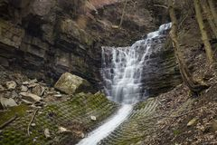 Mountview瀑布 库存图片
