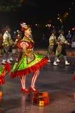 Mouraria颜色,邻里普遍的游行,里斯本庆祝 库存图片