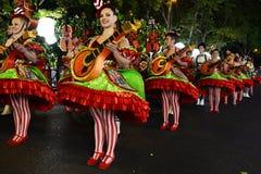Mouraria, secteur de Fado - défilé populaire, vieilles festivités de voisinages de Lisbonne image stock