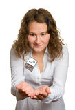 Mourez pour le commerçant en service Photo libre de droits