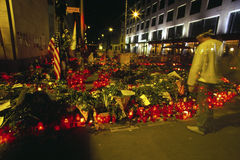 Mouring dopo l'11 settembre Fotografia Stock Libera da Diritti