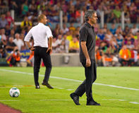 Mourinho and Guardiola Royalty Free Stock Image
