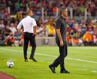 Mourinho y Guardiola Imagen de archivo libre de regalías