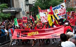 Mourir pour le drapeau de justice Images libres de droits