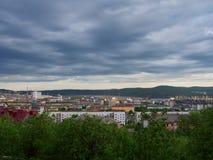 MOURMANSK, RUSSIE Horizontal de ville Photos stock